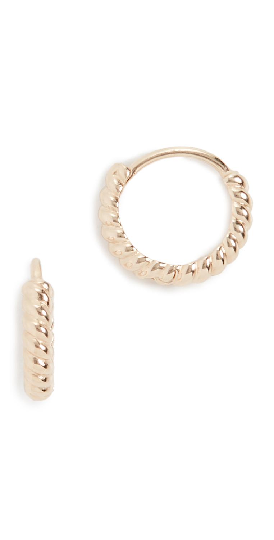 Ariel Gordon Jewelry 14k Twisted Petite Hoops