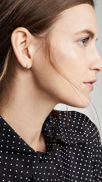 Ariel Gordon Jewelry 14k 扭褶小号圈式耳环