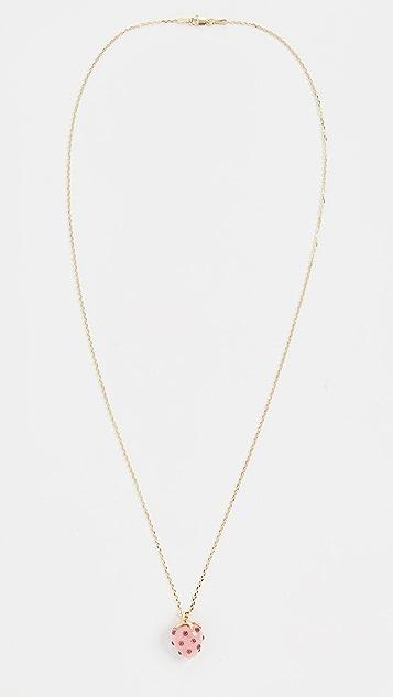 Ariel Gordon Jewelry 14k 草莓猫眼石吊坠项链