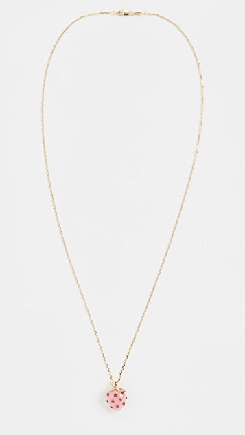 Ariel Gordon Jewelry Колье из 14-каратного золота с кулоном в виде клубники и опалом