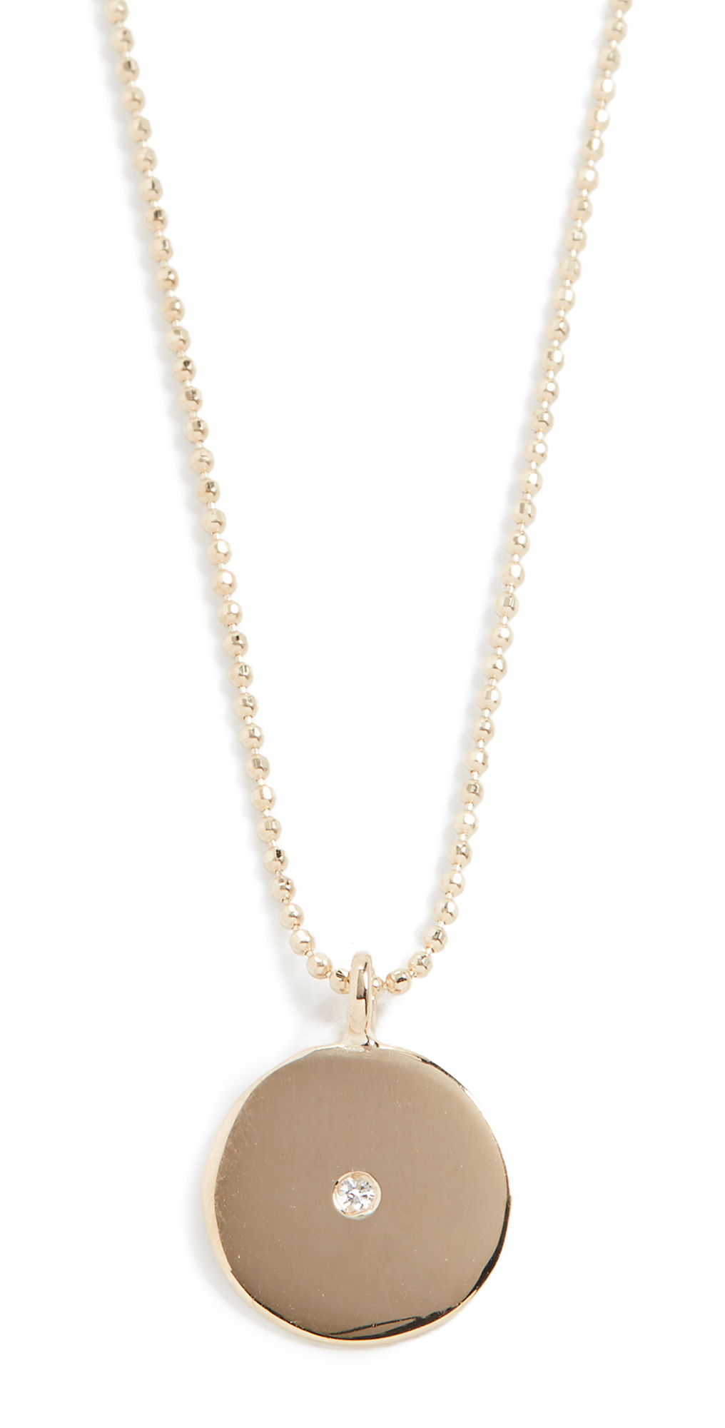 14k Small Circle Pendant Necklace