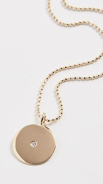 Ariel Gordon Jewelry 14k 小号圆形吊坠项链