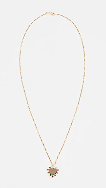Ariel Gordon Jewelry 14k Candy Heart Carousel Necklace