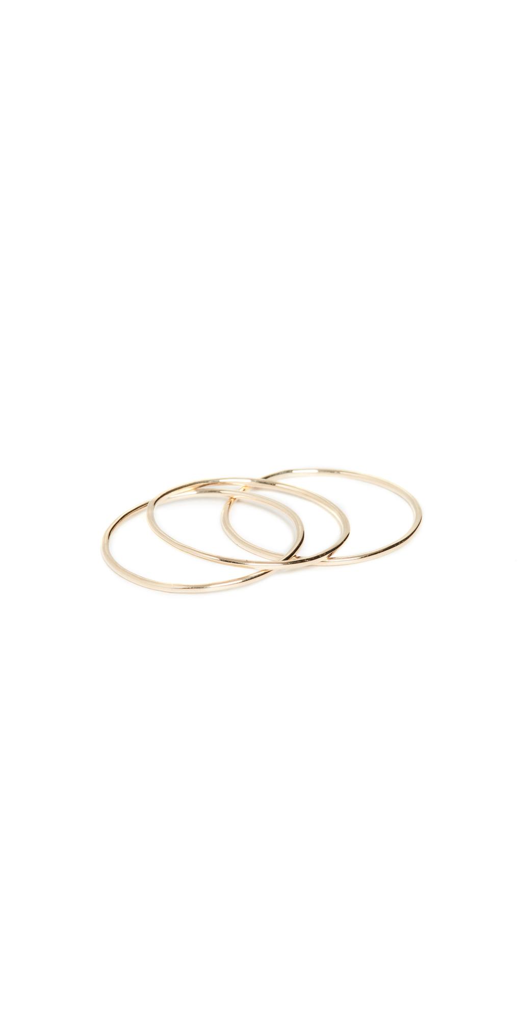14k Paper Thin Rings