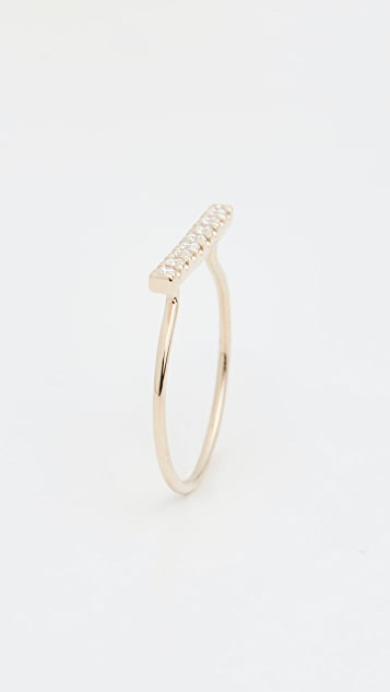 Ariel Gordon Jewelry 14k Fine Line Pave Ring