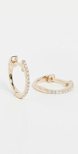 Ariel Gordon Jewelry - 14k Pave Diamond Huggies