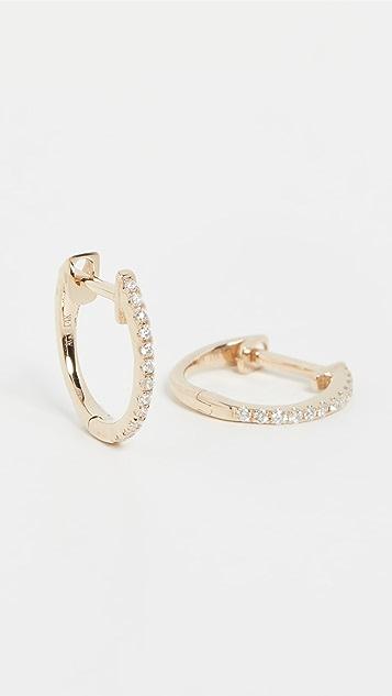Ariel Gordon Jewelry 14k Pave Diamond Huggies