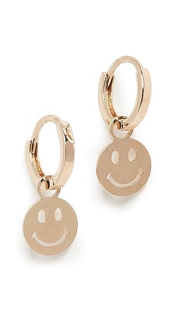 Ariel Gordon Jewelry 14k Smile Charming Hoops
