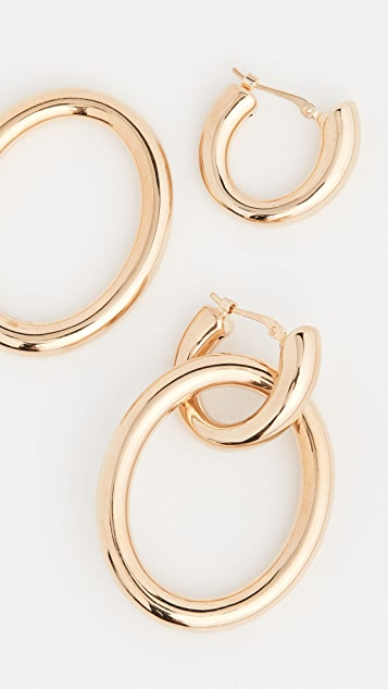 Ariel Gordon Jewelry 14k Linked Helium Hoops
