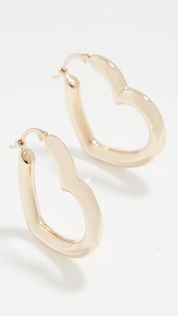 Ariel Gordon Jewelry Heart Helium Hoops
