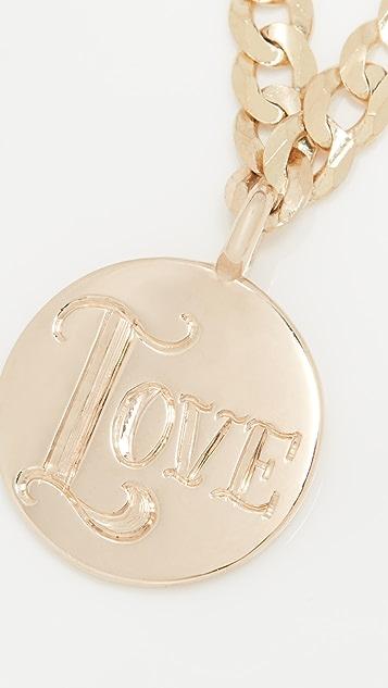 Ariel Gordon Jewelry 圆牌 Love 项链