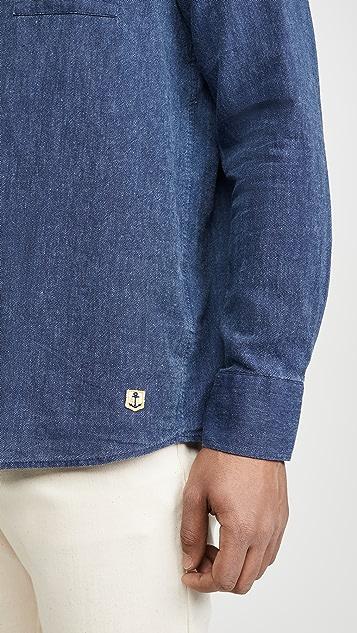 Armor Lux Chemise Comfort Boutonné Poche Shirt