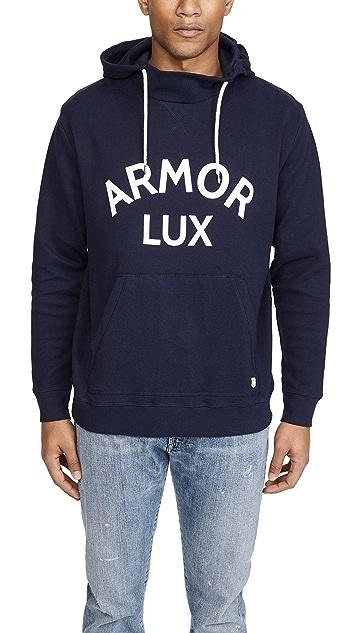 Armor Lux Long Sleeve Logo Hoodie