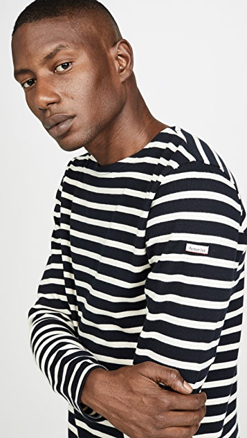 Armor Lux Long Sleeve Striped Marinière Aviron T-Shirt