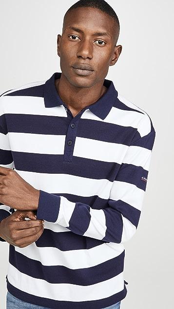 Armor Lux Long Sleeve Pleuven Polo Shirt