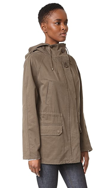 Army By Yves Salomon Short Classic Parka with Fur