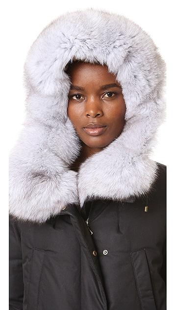 Army By Yves Salomon Down Parka with Fur Trim