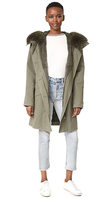 Army By Yves Salomon Hooded Jacket