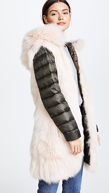 Army By Yves Salomon Long Reversible Fur Parka