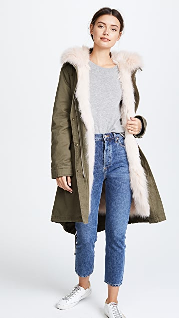 Army By Yves Salomon Long Reversible Fur Parka | SHOPBOP