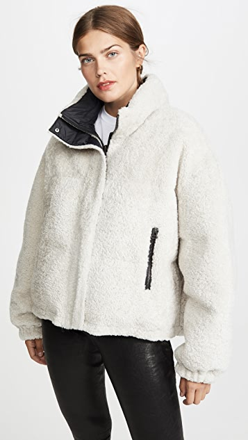 Army By Yves Salomon Doudune Lamb Reversible Puffer Jacket