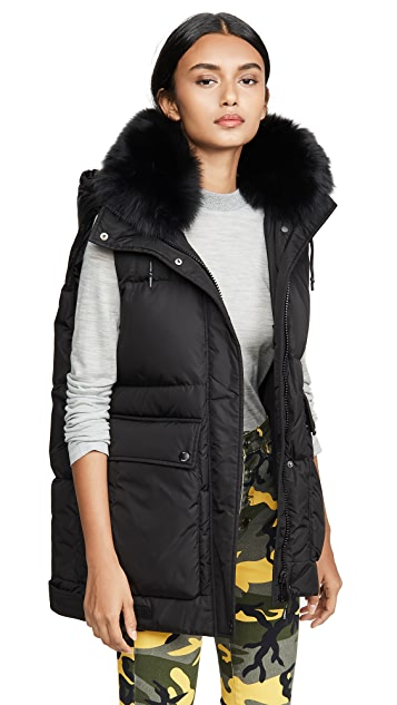 Army By Yves Salomon Fox Trim Vest