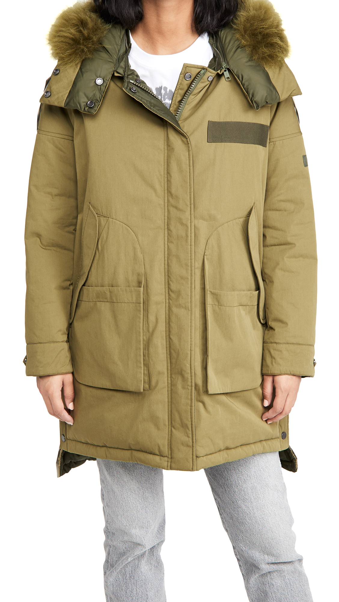 Army By Yves Salomon Long Puffer Jacket