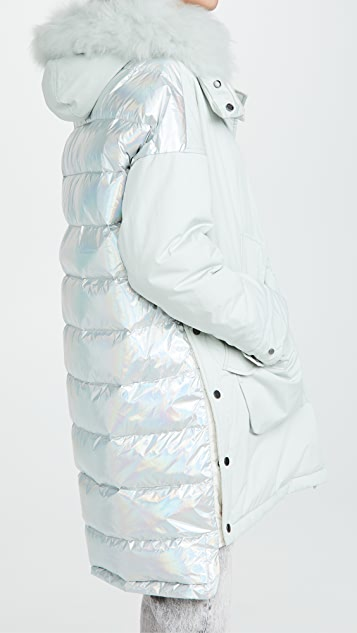 Army By Yves Salomon Long Puffer Coat