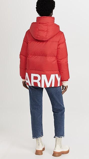 Army By Yves Salomon 双面高科技面料羽绒夹克