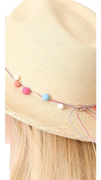 Artesano Clasico Wide Brim Hat with Fringe