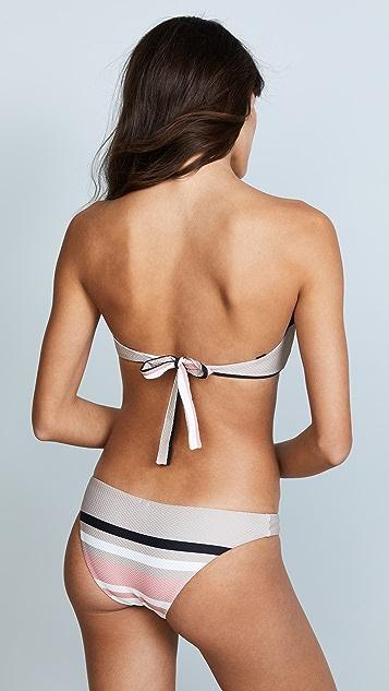ASCENO Wrap Bandeau Bikini Top