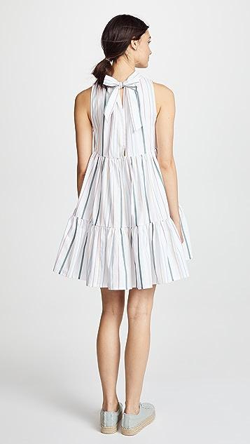 ASCENO Short Neck Tie Dress