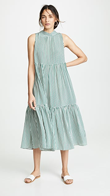 ASCENO Long Neck Tie Dress