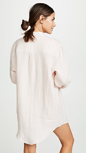 ASCENO Boyfriend Shirt Cover Up