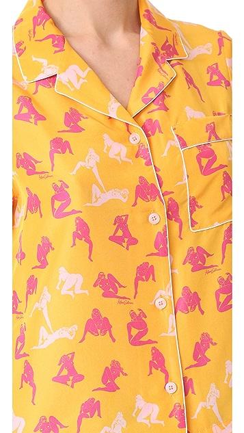 Adam Selman Raine Pajama Shirt