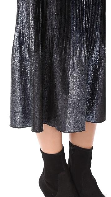 Adam Selman Topiary Pleated Skirt