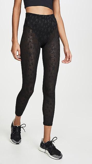 Adam Selman Sport Perforated Sheer Star Leggings