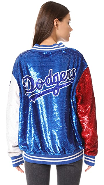 ASHISH USA Dodgers Varsity Jacket