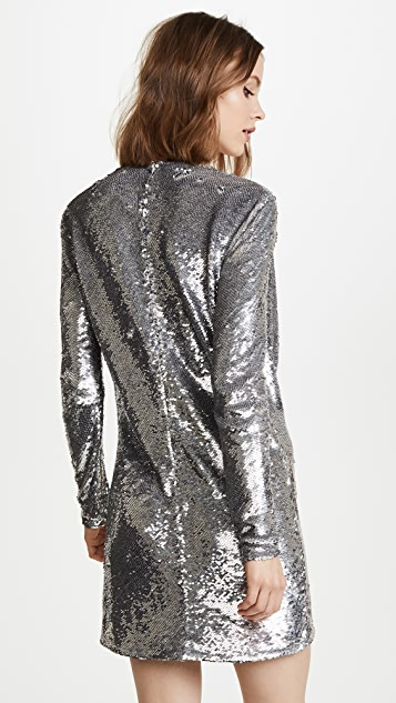 ASHISH Short Drape Front Dress
