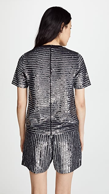 ASHISH Pinstripe T-Shirt