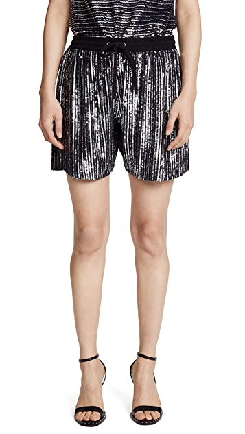ASHISH Pinstripe Boxer Shorts