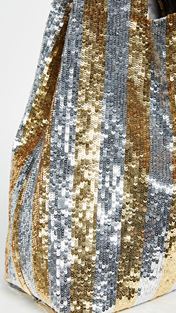 ASHISH Classic Sequin Stripe Tote