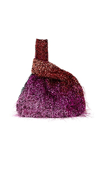ASHISH Sequin Tinsel Rainbow Ombre Shopper Tote