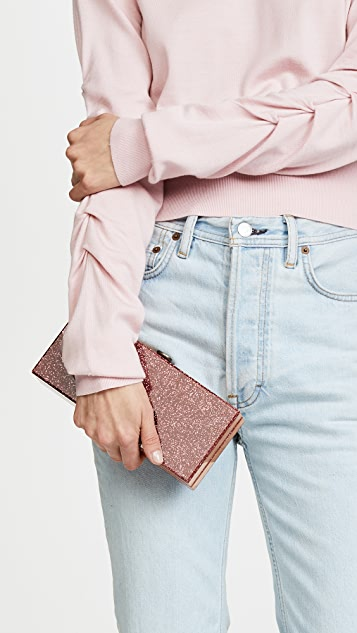 ashlyn'd Lyn Rose Gold Tone Clutch
