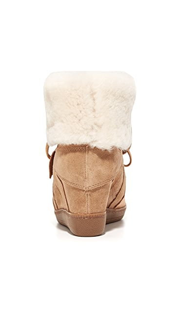 Ash Brendy Shearling Wedge Sneakers