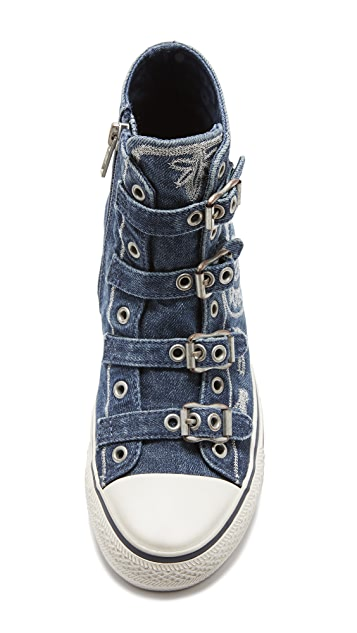 Ash Val Buckle High Top Sneakers