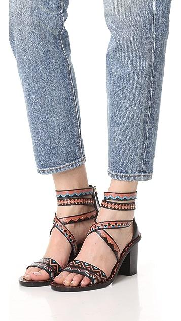 Ash Papaya Sandals