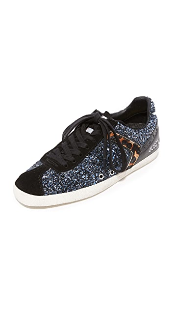 Ash Glitter Leather Sneakers