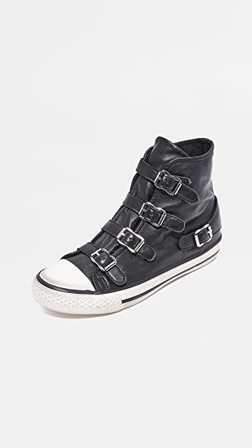 bf37aa81d8aef Ash Virgin Buckled High Top Sneakers ...