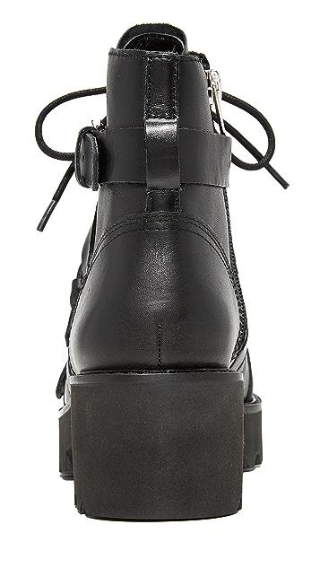 Ash Razor Chunky Heel Buckle Booties